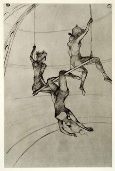 Henri de Toulousse Lautrec. Dibuix trapezistes.