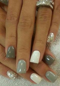 Gray Is The Best Color For Any Manicure#fallnails #Beauty #Trusper #Tip