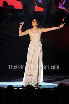 Celebrity Dresses Lea Michele Chiffon Prom Dress 64th Tony Awards Gown