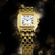 A bold approach: a watch to be worn like jewelry. Panthère de Cartier.