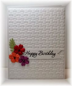 Birthday Card Ideas : Scrappin and Stampin in GJ Use StampinUp Birthday Cards For Women, Handmade Birthday Cards, Happy Birthday Cards, Birthday Wishes, Making Greeting Cards, Greeting Cards Handmade, Simple Handmade Cards, Bday Cards, Embossed Cards