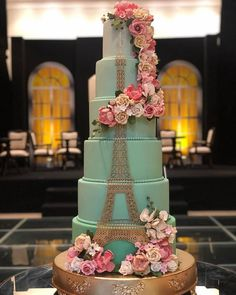 Paris Themed Cakes, Paris Themed Birthday Party, Paris Cakes, Paris Party, Happy Birthday Cake Photo, 15th Birthday Cakes, Happy Birthday Cakes, Pretty Wedding Cakes, Black Wedding Cakes