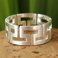 'Timeless' sterling silver band #ring