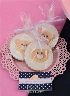Teddy Bears Birthday Party cookies! See more party planning ideas at CatchMyParty.com!