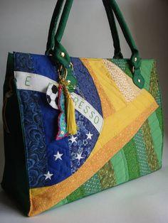 Bolsa Sacola Bandeiras - Brasil | Sonoe BAG  - Elo7