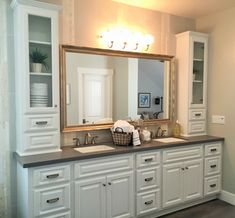 Kerrie Kelly Design Lab CONTEMPORARY COASTAL COTTAGE   Kerrie Kelly Design  Lab. Bathroom Double VanityWhite ...