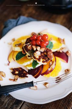 fried halloumi with fruit nuts and herbs + 4 other delicious recipes in this week's meal plan.