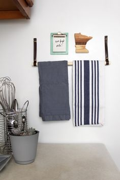 make this minimal magnetic towel bar - Kitchen Towel Bars Ideas