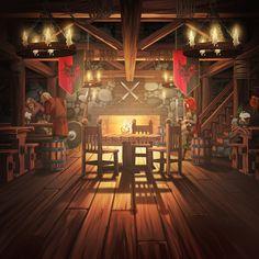 ArtStation - Empires And Puzzles Tavern Illustration, Juha Halme Fantasy Rpg, Medieval Fantasy, Fantasy World, Dark Fantasy, Candle Labels, Fantasy Setting, Magic Book, Cozy Place, Dark Ages