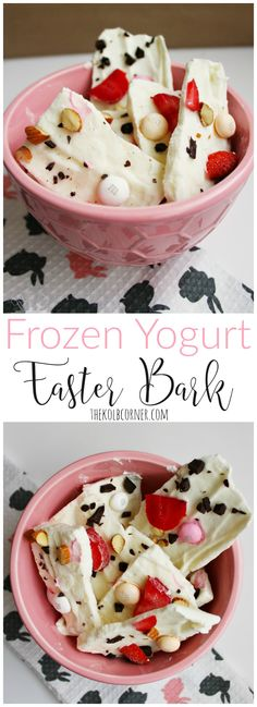 Indulge your sweet tooth with this creamy, sweet Frozen Yogurt Easter Bark. #EasterSweets @Target #Ad