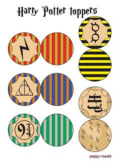 Harry Potter inspired cupcake toppers