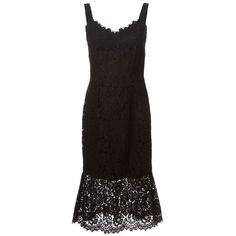 Dolce & Gabbana embroidered floral lace dress (£1,910) ❤ liked on Polyvore featuring dresses, black, spaghetti strap dress, dolce gabbana dress, flower printed dress, floral embroidery dress and embroidered dress