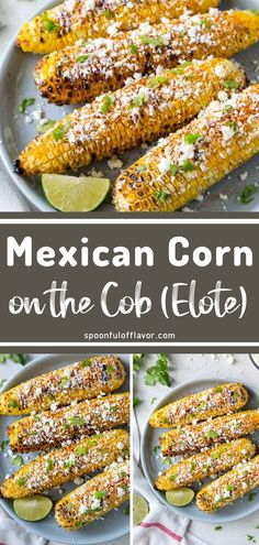 Learn how to make Mexican corn on the cob with this easy grilled corn side dish recipe! Elote corn recipe is a grilled Mexican street corn in 20 minutes. Corn Recipes, Side Dish Recipes, Mexican Food Recipes, Dishes Recipes, Easy Delicious Recipes, Easy Dinner Recipes, Easy Meals, Lunch Recipes