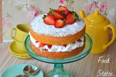 New post! New recipe! Link in bio Victoria sponge cake 🍓 Victoria Sponge Cake, New Recipes, Cheesecake, Appetizers, Pudding, Sweets, Snacks, Easy, Desserts