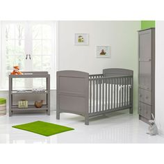 OBaby Grace 3 Piece Furniture Set (Taupe Grey)