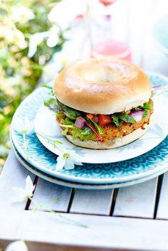 Recette de Bagel Végétarien   http://www.picard.fr/produits/bagel-vegetarien/R1058,default,pd.html