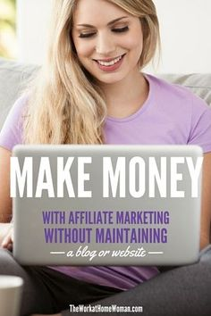 Affiliate marketing is one way to make money online. Find out how you can earn an income, working from home, without having a blog or a website.