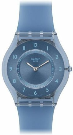 Swatch Blue Softness Ladies Watch SFN120 Swatch. Save 25 Off!. $81.99. Quartz Movement. 34mm Case Diameter. Skin Collection. Mineral Crystal. 30 Meters / 100 Feet / 3 ATM Water Resistant