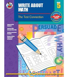 #CDWishList-Write About Math Resource Book - Carson Dellosa Publishing Education Supplies