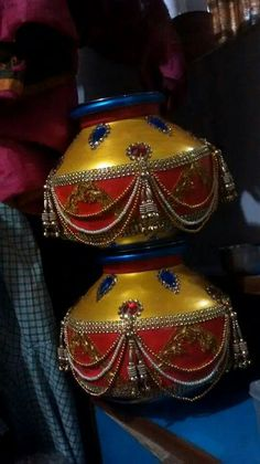 I advise more details on Marriage Ideas Kalash Decoration, Thali Decoration Ideas, Diwali Decorations, Festival Decorations, Hanging Decorations, Garden Wedding Decorations, Wedding Crafts, Engagement Decorations, Art N Craft