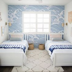Ready for those vibes. 🙋♀️ Last chance to score our best-sellers (including this beachy wallpaper) for off with code Design: Coastal Wallpaper, Room Wallpaper, Wallpaper Ceiling, Waves Wallpaper, Beach Furniture Decor, Kids Bedroom, Bedroom Decor, Bedroom Inspo, Beach House Decor
