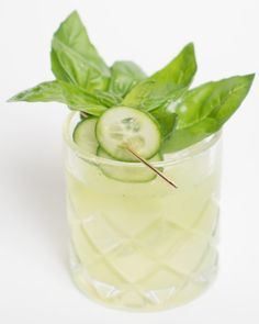 Cucumber Basil Smash 3 to 5 basil leaves 3 to 5 cucumber wheels ¾ part simple…