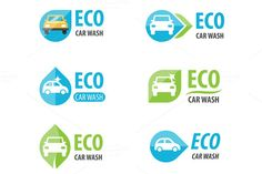 Eco car wash logo templates by @Graphicsauthor
