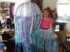 Jellyfish Costume using  bubble wrap
