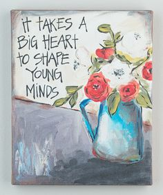 Look at this 'Shape Young Minds' Canvas on #zulily today!