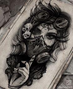 Neon Tattoo, P Tattoo, Dark Tattoo, Body Art Tattoos, Sleeve Tattoos, Dark Art Drawings, Tattoo Design Drawings, Tattoo Sketches, Girl Face Tattoo