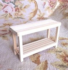 "Mike Botkin Wood Artist Made Handcrafted Unfinished Table measures approximately 4 3/4"" Wide, 3"" Tall, and 1 1/2"" Deep, and is constructed of wood by a very talented Artisan."