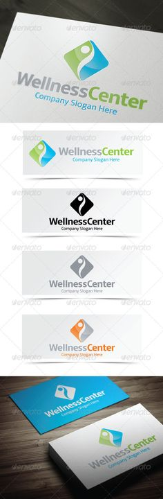 Wellness Center Logo — Vector EPS #salon #people • Available here → https://graphicriver.net/item/wellness-center-logo/4013572?ref=pxcr