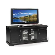 Tv Stand: Tv Stand Leick Furniture Black (3.300 VEF) ❤ liked on Polyvore featuring home, furniture, storage & shelves, entertainment units, black, media storage shelves, media console, media shelf, storage shelves and storage cabinets