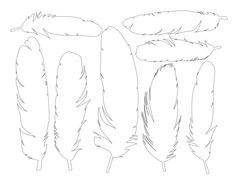 Free Printable Feathers via Dabbles Babbles Feather Crafts, Feather Art, Diy And Crafts, Arts And Crafts, Paper Crafts, Diy Paper, Feather Template, 3d Templates, Paper Feathers