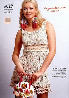 Ivelise Feito à Mão: Lindo Vestido Em Tricô