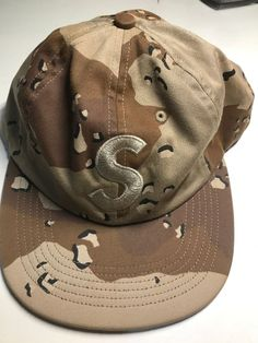 9a42b94d237 Supreme wool 6 panel S logo hat - Camo  fashion  clothing  shoes