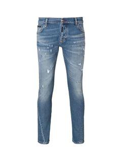 PHILIPP PLEIN Philipp Plein Jeans Acajou. #philippplein #cloth #