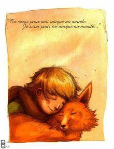 Le petit prince et le renard.