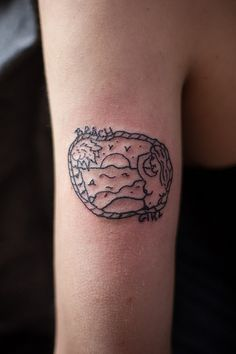 Beach tattoo.