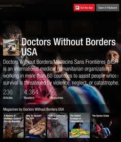 Doctors Without Borders USA - Flipboard Magazines #articles