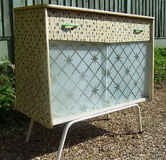 50s 60s vintage retro cabinet dresser sideboard rockabilly mid century | eBay