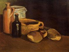 Realism Art — Still Life with Clogs and Pots, 1884, Vincent van...
