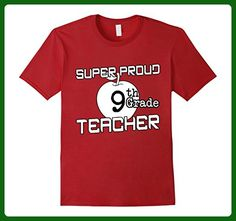 Mens Super Proud 9th Grade Teacher T-Shirt Large Cranberry - Careers professions shirts (*Amazon Partner-Link)