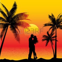 483 Beach Couple Silhouette Stock Vector Illustration And Royalty Free Beach Couple Silhouette Clipart