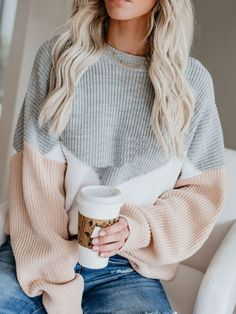 Thin Round Neck Long Sleeve Sweater asual Fall Outfits- Simple Fall Outfits- Cute Fall Outfits- Fall Outfits for Moms clothes Simple Fall Outfits, Cute Casual Outfits, Mom Outfits, Cute Sweater Outfits, Sweater Fashion, Cute Outfits For Winter, Fall School Outfits, Sweater Weather Outfits, Sweater And Jeans Outfit