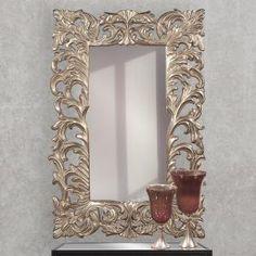 The Howard Elliott Collection Arlington Gold Baroque Mirror 84001 - The Home Depot Baroque Mirror, Art Deco Mirror, Metal Trim, Scroll Design, Light Reflection, Accent Pieces, Decoration, Antique Silver, Antiques