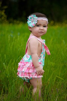 2bf8ca2cc Baby Girl Sunsuit Romper Bubble with by CharmingNecessities, $36.00 Baby  Girl Fashion, Beautiful Children