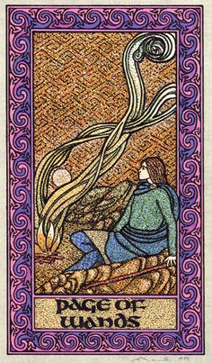 Page of Wands - Celtic Tarot byCourtney Davis & Helena Paterson