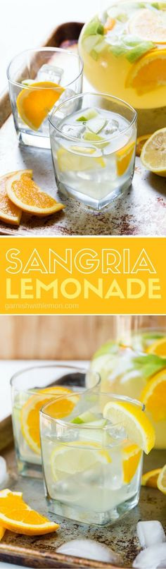 Easy Sangria Lemonade is a a refreshing batch cocktail recipe that is just what… #cocktailrecipes