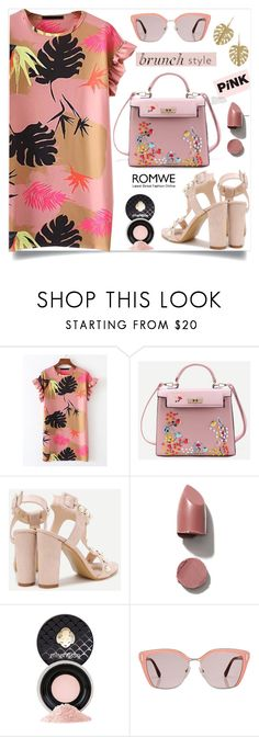 """Pink brunch, romwe!"" by samra-bv ❤ liked on Polyvore featuring Mirenésse, Prada, Annette Ferdinandsen, polyvorecontest and brunchgoals"